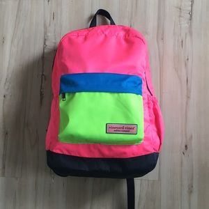Vineyard Vines Neon Whaleline Backpack